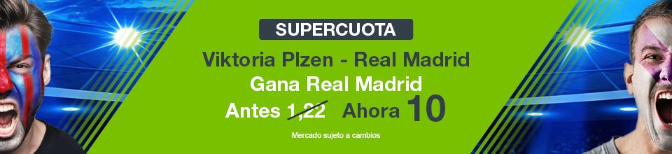 Codere: Supercuota Viktoria Plzen vs. Real Madrid + 350€