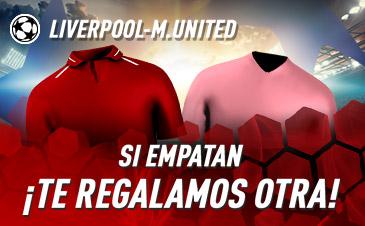 Sportium: Liverpool vs. Man. United. Si empatan ¡Te regalamos otra!