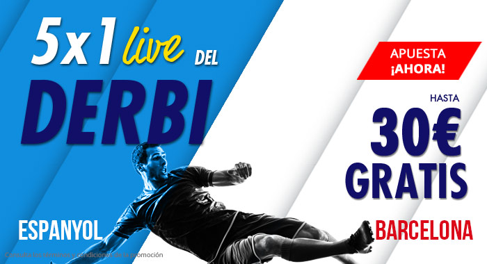 Suertia: Espanyol vs. Barça. Llévate hasta 30€ GRATIS apostando en vivo