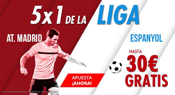 Suertia: At. Madrid vs. Espanyol. Apuesta y llévate hasta 30€ GRATIS