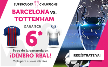 Wanabet: Barça @6.0 vs. Tottenham + 200€