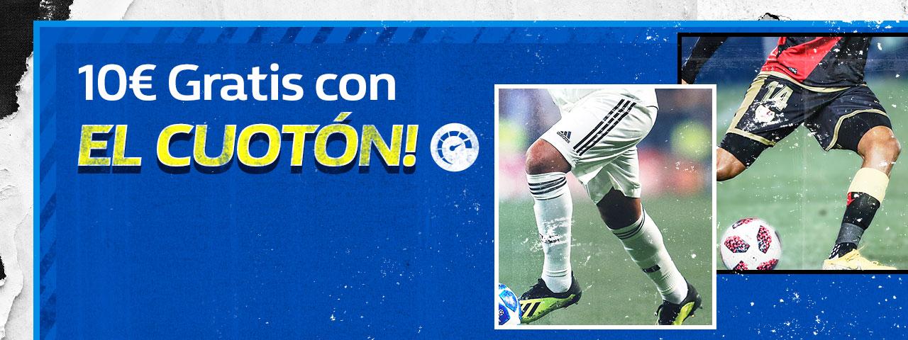 William Hill: Madrid vs. Rayo. 10€ GRATIS con el CUOTÓN