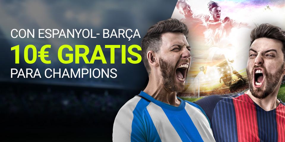 Luckia: Espanyol vs. Barça. Haz tu apuesta y llevate 10€ para la Champions
