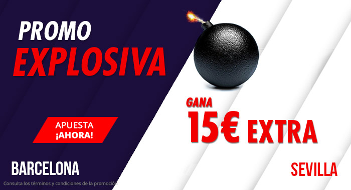 Suertia: Barça vs. Sevilla. Llévate 15€ EXTRA con tu apuesta