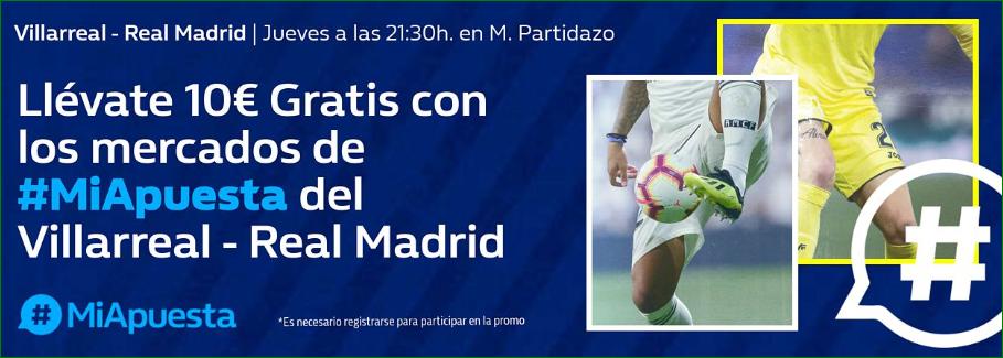 William Hill: Villarreal vs. Real Madrid. #MiApuesta Llévate 10€ GRATIS