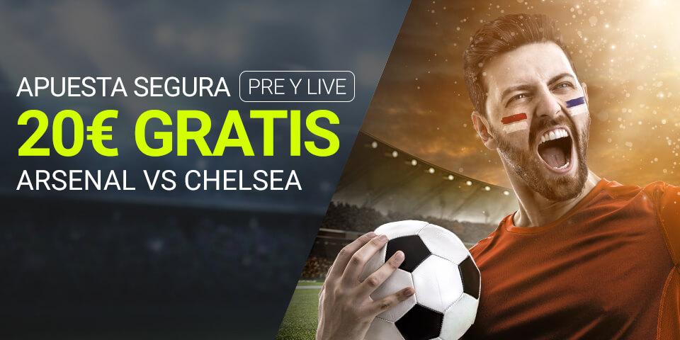 Luckia: Arsenal vs. Chelsea. Apuesta segura