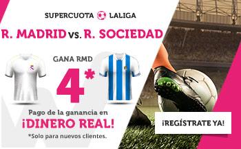 Wanabet: Real Madrid @4.0 vs. Real Sociedad + 200€