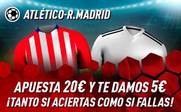 Sportium: At. Madrid vs. Real Madrid. Haz tú apuesta y te damos 5€ ¡¡¡GRATIS!!!
