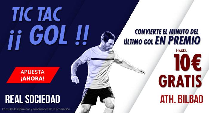Suertia: Real Sociedad vs. Ath. Bilbao. Haz tú apuesta y llévate hasta 10€ GRATIS