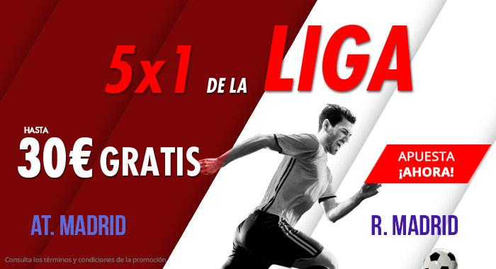 Suertia: At. Madrid vs. Real Madrid. Haz tu apuesta y llévate hasta 30€ GRATIS