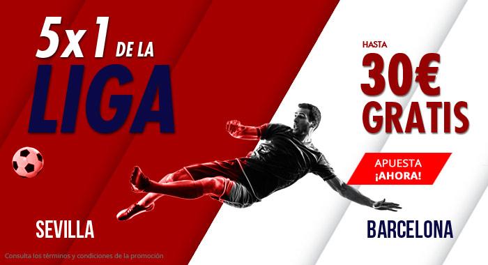Suertia: Sevilla vs. Barça. Haz tu apuesta y llévate hasta 30€ GRATIS
