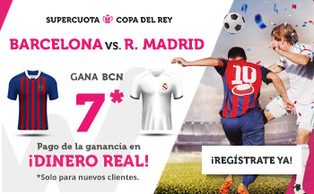 Wanabet: Barça @7.0 vs. Madrid + 200€