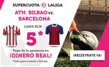 Wanabet: Ath. Bilbao vs. Barça @5.0 + 200€