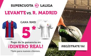 Wanabet: Levante vs. Real Madrid @5.0 + 200€