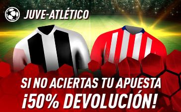 Sportium: Juventus vs. At. Madrid. Si fallas 50% DEVOLUCIÓN