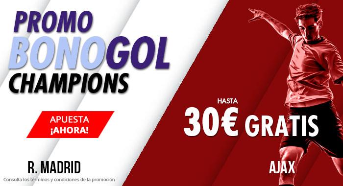 Suertia: Madrid vs. Ajax. Haz tu apuesta y llévate hasta 30€ GRATIS