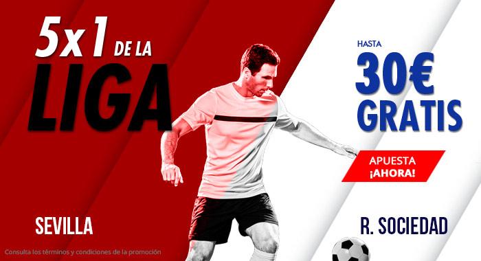 Suertia: Sevilla vs. Real Sociedad. Haz tu apuesta y llévate hasta 30€ GRATIS
