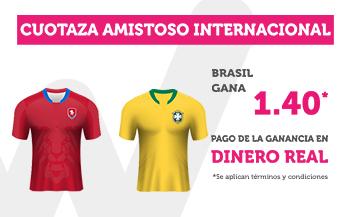 Wanabet: Rep. Checa vs. Brasil @1.40