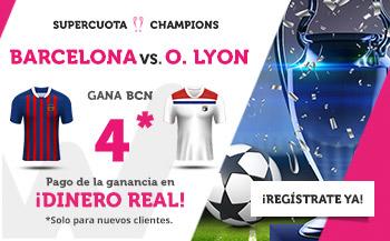 Wanabet: Barça @4.0 vs. Lyon + 200€
