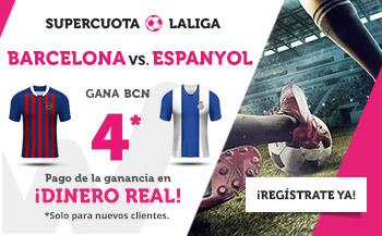 Wanabet: Barça @4.0 vs. Espanyol + 200€
