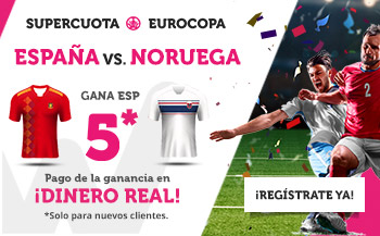 Wanabet: España @5.0 vs. Noruega + 200€