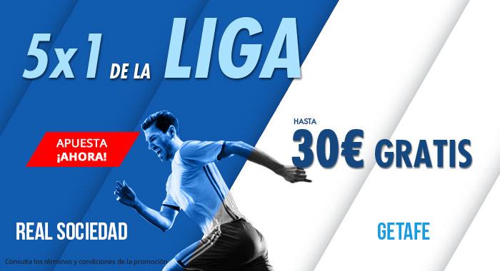 Suertia: Real Sociedad vs. Getafe. Haz tu apuesta y llévate hasta 30€ GRATIS
