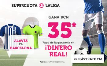 Wanabet: Alavés vs. FC Barcelona @35.0 + 200€