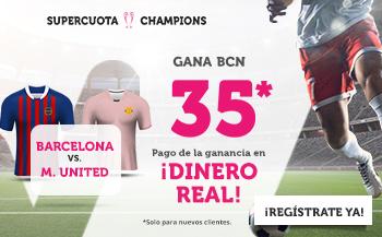 Wanabet: FC Barcelona @35.0 vs. Manchester United + 200€
