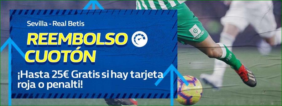 William Hill: Sevilla - Real Betis. Devolución de hasta 25€
