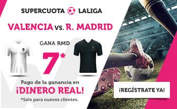 Wanabet: Valencia vs. Real Madrid @7.0 + 200€