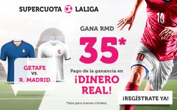 Wanabet: Getafe vs. Real Madrid @35.0 + 200€