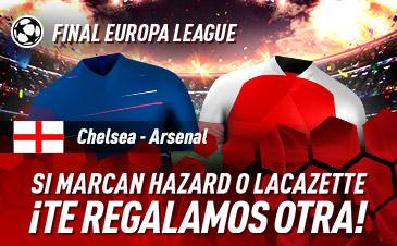 Sportium: Chelsea vs. Arsenal. Si marcan Hazard o Lacazette ¡Devolución!