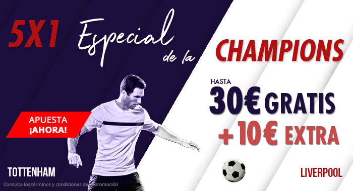 Suertia: Tottenham vs. Liverpool. Haz tu apuesta y llévate hasta 30€ GRATIS + 10€ EXTRA