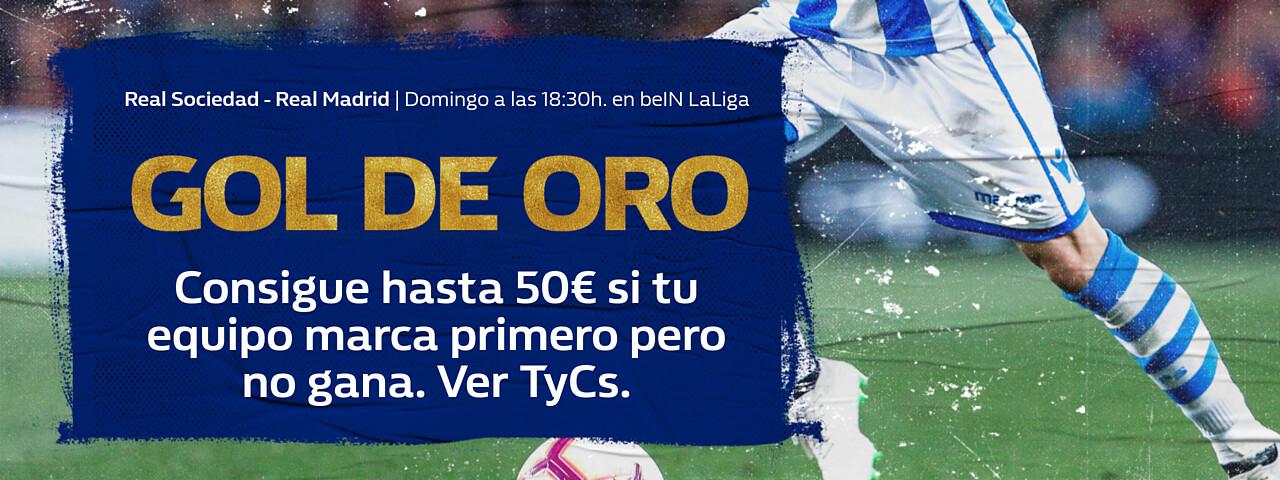 William Hill: Real Sociedad vs. Real Madrid. Llévate hasta 50€ si tu equipo pierde