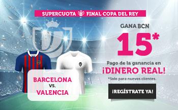 Wanabet: FC Barcelona @15.0 vs. Valencia + 200€