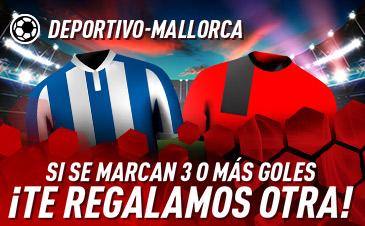 Sportium: Deportivo vs. Mallorca. Si se marcan 3 o más goles ¡Devolución!