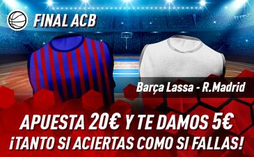 Sportium: FC Barcelona vs. Real Madrid. Haz tú apuesta y te damos 5€ ¡¡¡GRATIS!!!