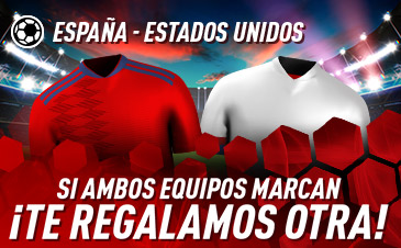 Sportium: España vs. USA. Si ambos marcan… ¡Devolución!