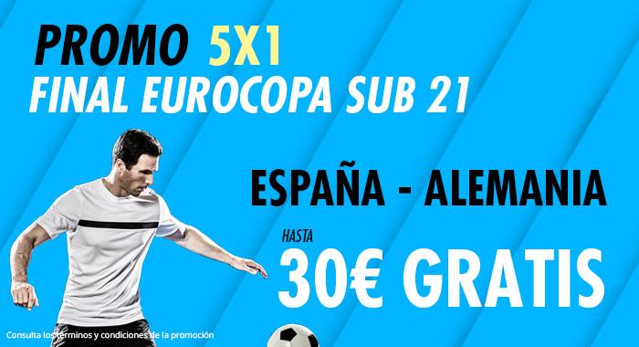 Suertia: España Sub-21 vs. Alemania Sub-21. Haz tu apuesta y llévate hasta 30€ GRATIS