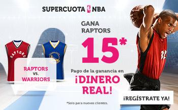 Wanabet: Raptors vs. Warriors @15.0 + 100€