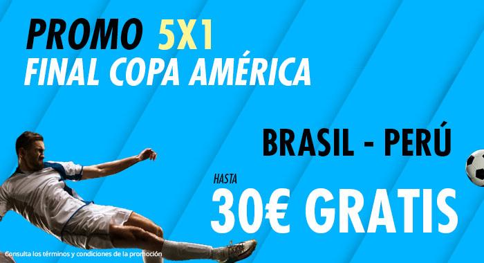 Suertia: Brasil vs. Perú. Haz tu apuesta y llévate hasta 30€ GRATIS