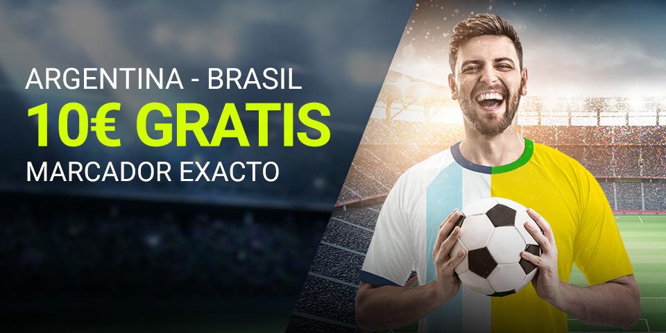 Luckia: Argentina vs. Brasil. Apuesta segura