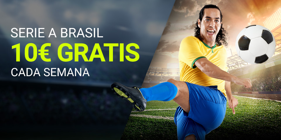 Luckia: Seria A Brasil. Llévate 10€ por tus apuestas