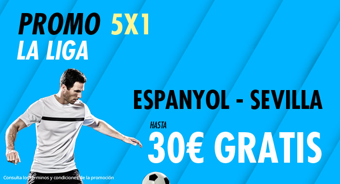 Suertia: Espanyol vs. Sevilla. Haz tu apuesta y llévate hasta 30€ GRATIS