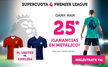 Wanabet: Manchester United @25.0 vs. Chelsea + 100€