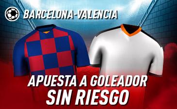 Sportium: FC Barcelona vs. Valencia. Haz tu apuesta a GOLEADOR ¡SIN RIESGO!