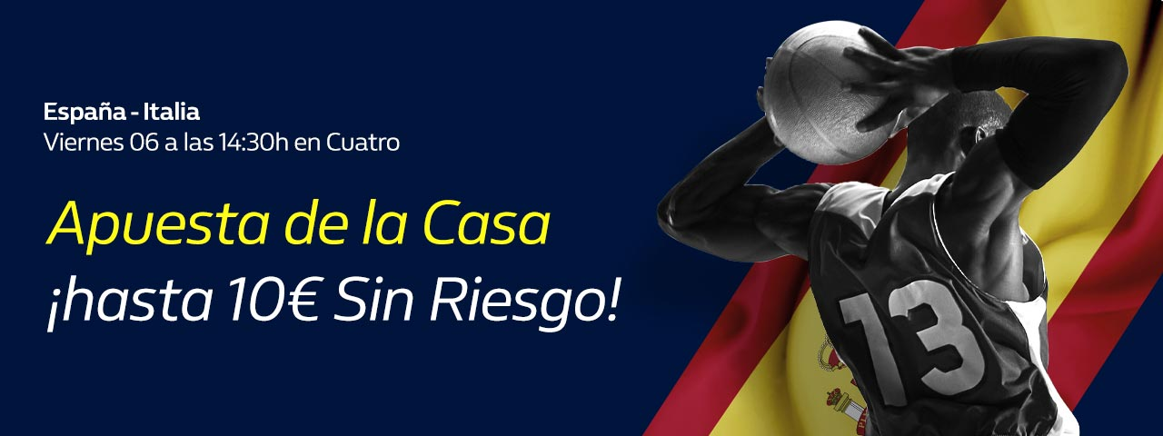 William Hill: España - Italia. Hasta 10€ sin riesgo