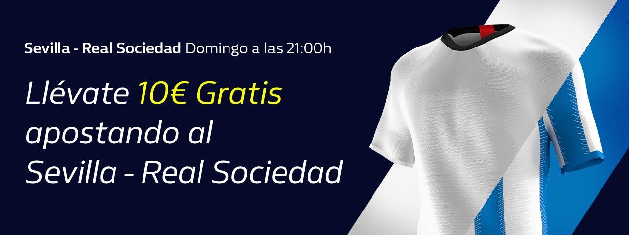 William Hill: Sevilla vs. Real Sociedad. Hasta 10€ sin riesgo