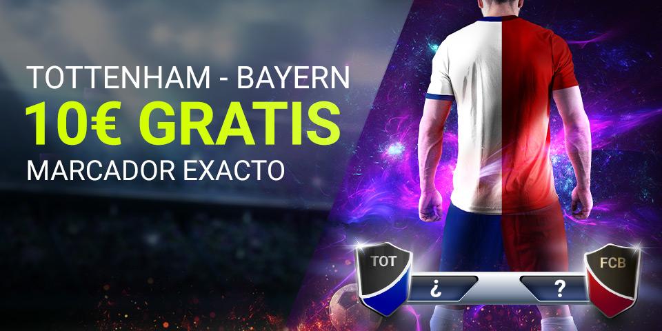 Luckia: Tottenham vs. Bayern Munich. Apuesta segura
