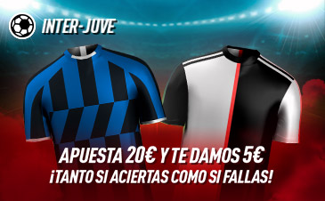 Sportium: Inter vs. Juventus. Haz tú apuesta y te damos 5€ ¡¡¡GRATIS!!!